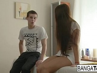 Hot teen gets banged hard