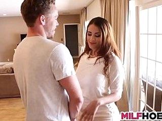 Horny milf seduces young stud