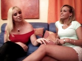 Experienced blonde lea  Cameron Keys has an exchange of confidence with young and juicy babe Shay Bennett