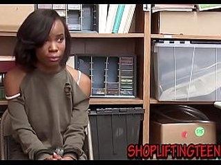 Black teenage thief bent over office desk and  fucked hard in hi def