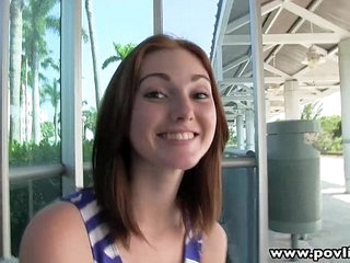 POVLife Pale redhead pick up teen facialized 12 min