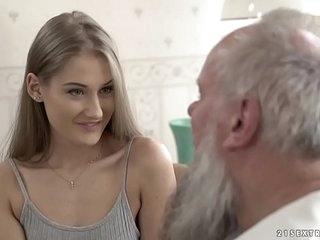 Teen beauty vs old grandpa - Tiffany Tatum and Albert 6 min