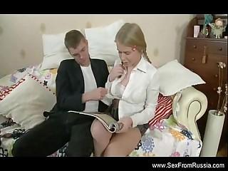 Russian Babe Teen Rough Fuck 18 min