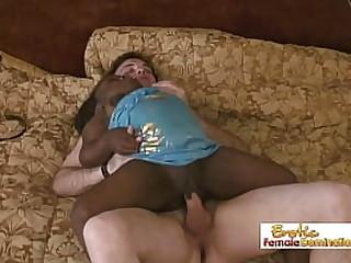 Black midget fucked by white dude