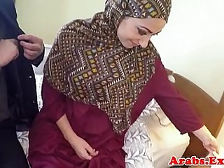 Pounded muslim babe jizzed in mouth