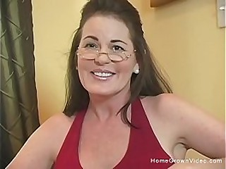 Sexy brunette mature with big tits gets pounded by a big cock