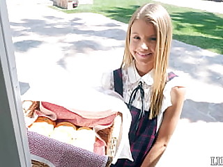 Petite blond girl  scout