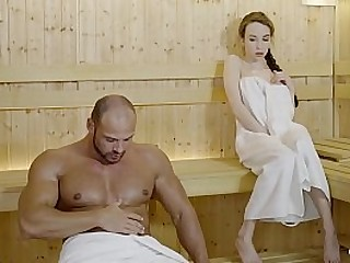 LETSDOEIT - Cute Babe Fucks With A Lusty Daddy At The Sauna