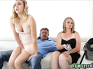Young Blonde Stepdaughter Cali Sparks & Daddy Fuck
